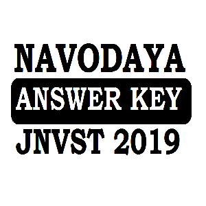 JNVST Answer key 2019